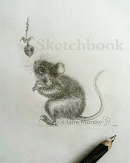 mouse and acorn sketch
