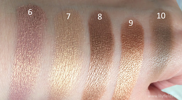 Swatches Carli Bybel Palette, BH Cosmetics