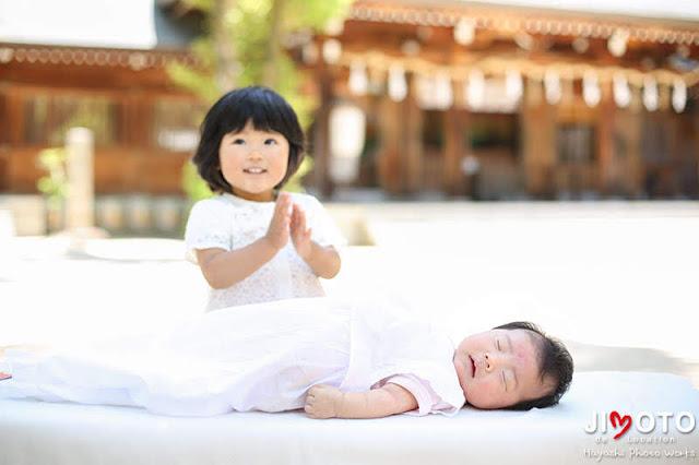 四條畷神社でのお宮参り出張撮影