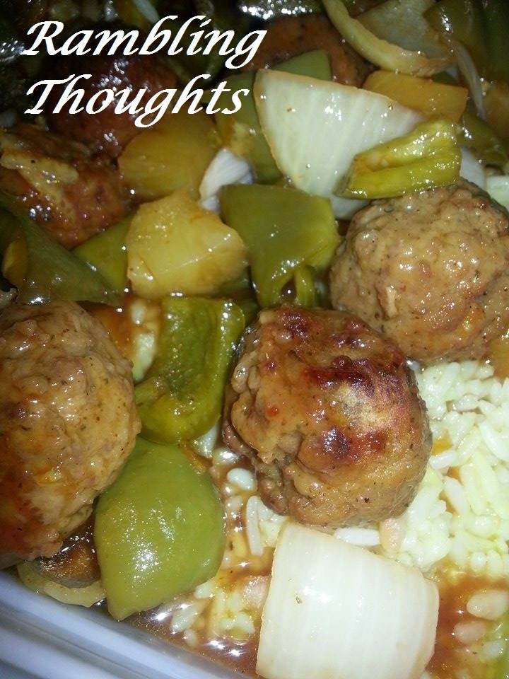 Ramblings Thoughts, Recipes, Cookbook Addition, Tasty Tuesday, Meatballs, Sweet & Sour, Comfort Food
