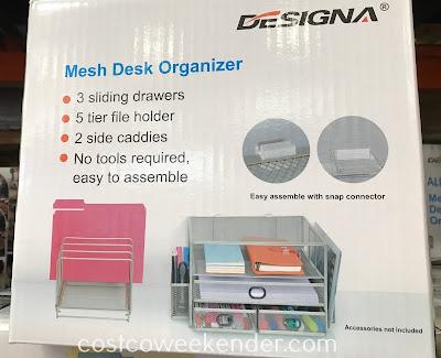 Costco 1135225 - Designa Mesh Desk Organizer: great for any desk or office