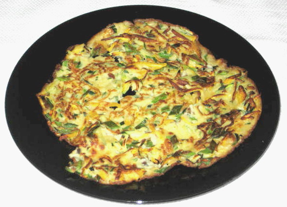 My Food, Garden, Golf etc.: Korean Zucchini Pancake  My Food, Garden...