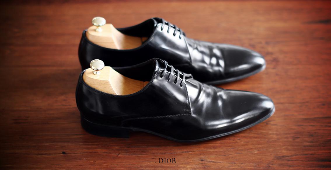 1eed01472b5 LOUISE PARIS  DIOR HOMME Chaussures Derby en cuir glacé noir Taille 41