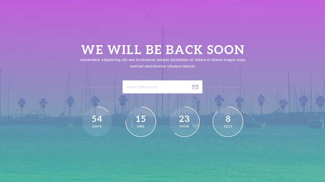 Notify free beautiful psd html5 coming soon template notify is a beautiful colorful psd and html5css3 coming soon under construction website template the notify html5 website template can be used to maxwellsz