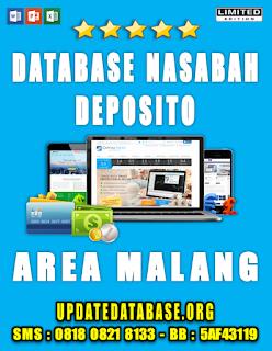 Jual Database Nasabah Deposito Malang