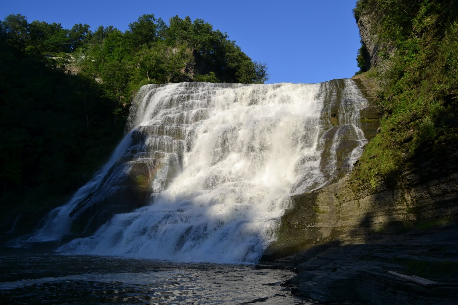 Водопад Итака, Итака, штат Нью-Йорк (Ithaca Falls, Ithaca, New York)