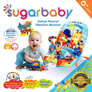 Sugar Baby Deluxe Musical Vibration Bouncer Sugar Toys