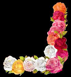 border rose shabby chic digital clipart scrapbooking flower craft corner floral roses flowers antique