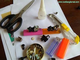 membuat Miniatur motor balap dari barang bekas