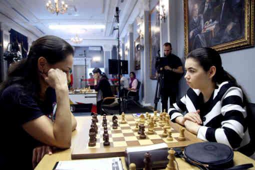 Alexandra Goryachkina (2522) 1-0 Alexandra Kosteniuk (2546) - Photo © Eteri Kublashvili