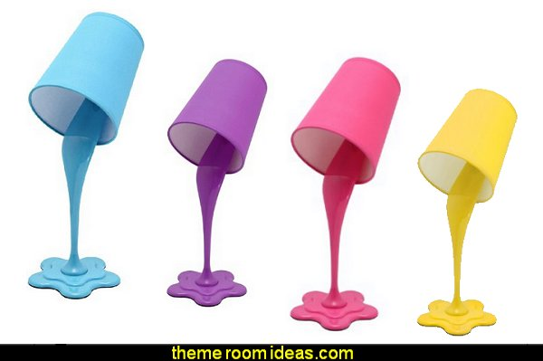 WOOPSY Desk Lamps paint splatter bedroom decorations