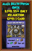 Mass Death Prism - Wizard101 Card-Giving Jewel Guide