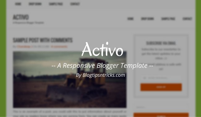 Activo a responsive blogger template