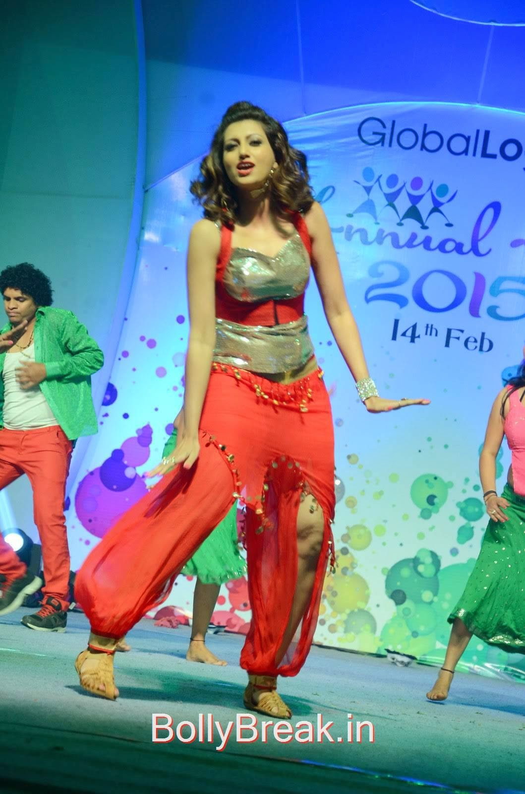 Hamsa Nandini Unseen Stills, Hamsa Nandini Hot Pics While Dancing in Red and Silver Dress