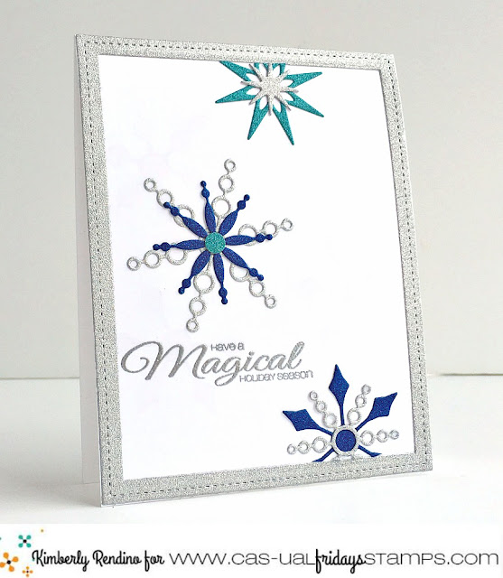 snowflake | christmas card | handmade card | cas-ual fridays stamps | kimpletekreativity.blogspot.com | clear stamps | papercraft | cardmaking | holiday