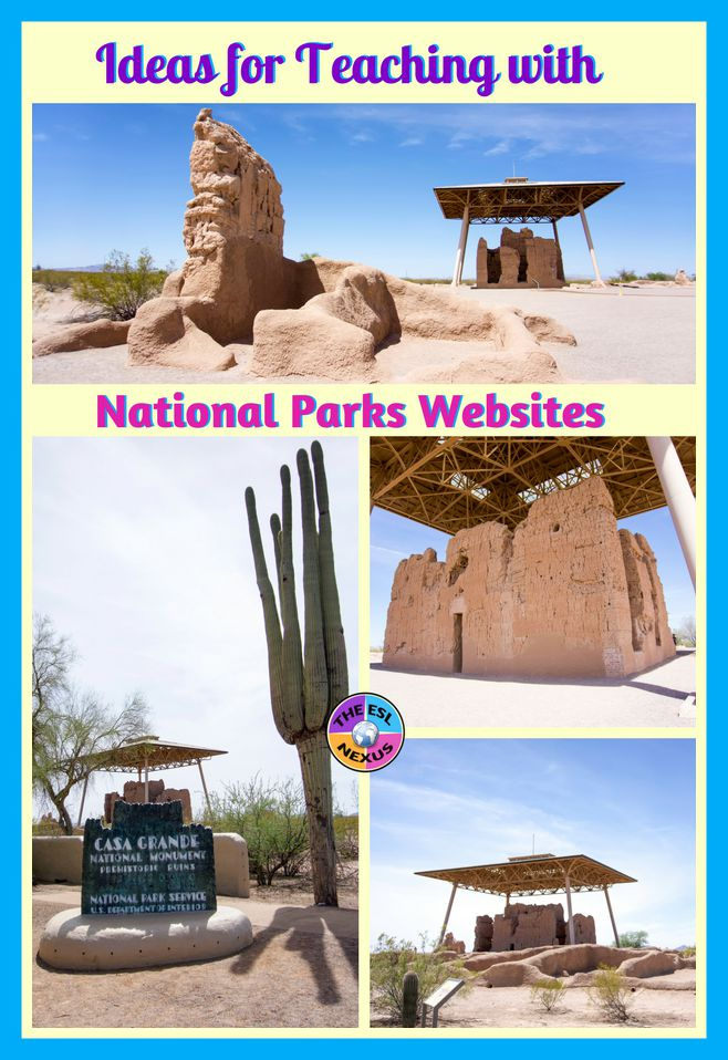 3 ideas for using National Parks websites with ELLs: Writing, reading, speaking, vocabulary & grammar activities for ELLs at a range of proficiency levels. | The ESL Nexus