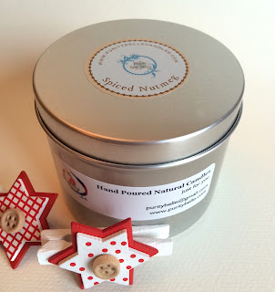 Spiced Nutmeg Soy Tin Candle by Purity Belle Candle