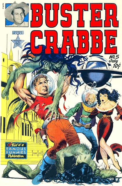 Buster Crabbe v1 #5 golden age comic book cover art by Frank Frazetta