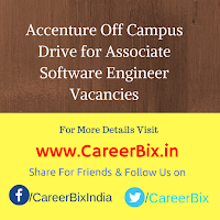 Accenture Off Campus Drive for Associate Software Engineer Vacancies