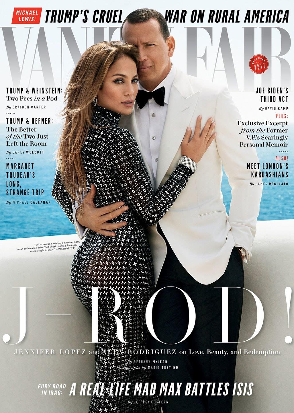 Jennifer Lopez and Alex Rodriguez cover Vanity Fair December 2017