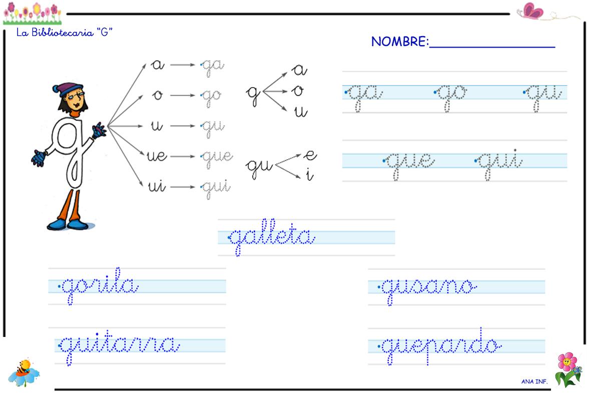 INFANTILES DE ANA V.: LA BIBLIOTECARIA G Y LOS SONIDOS GA