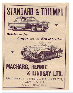 Macharg Rennie and Lindsay advert from Autocar October 1956