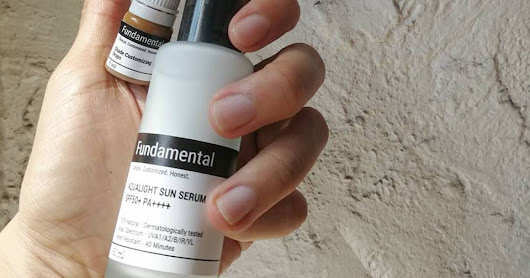 review Fundamental Skin Aqualight Sunscreen กันแดดผสมสีเอง