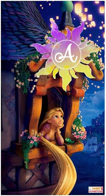 Rapunzel at the Window Alphabet. Abecedario de Rapunzel en la Ventana.