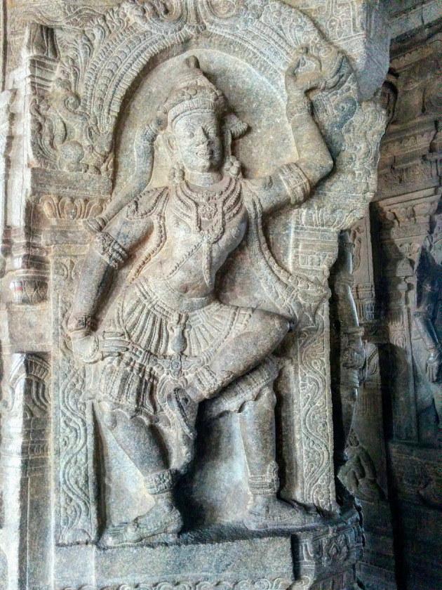 Dancing Lady on the walls of Lepakshi Temple, Andhra Pradesh