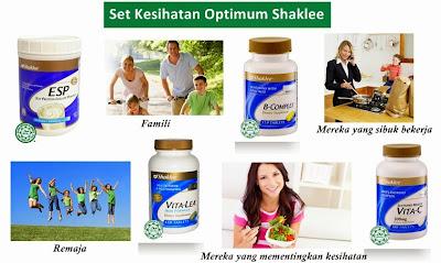 Set Kesihatan Optimum Shaklee amat sesuai untuk semua golongan dari peringkat remaja atau dewasa, mereka yang sibuk bekerja dan juga mereka yang mementingkan kesihatan