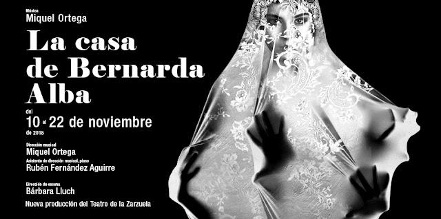 El drama de ´La casa de Bernarda Alba´ en versión ópera de cámara.