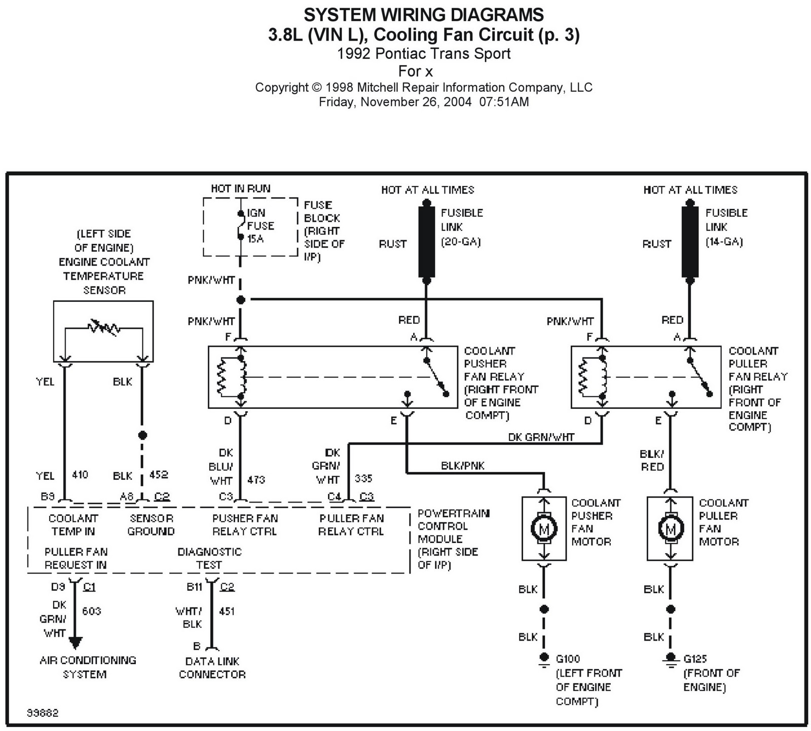 Pontiac Trans Sport Wiring Diagram And Electrical System Schematic 2005 Subaru Diagrams