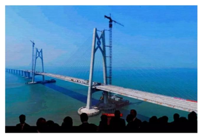 China launches hong kong-mainlandmega bridge