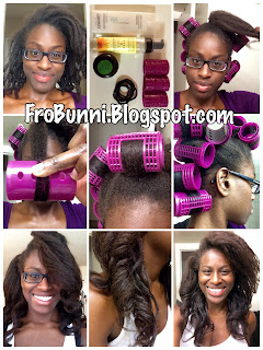 roller set on natural hair