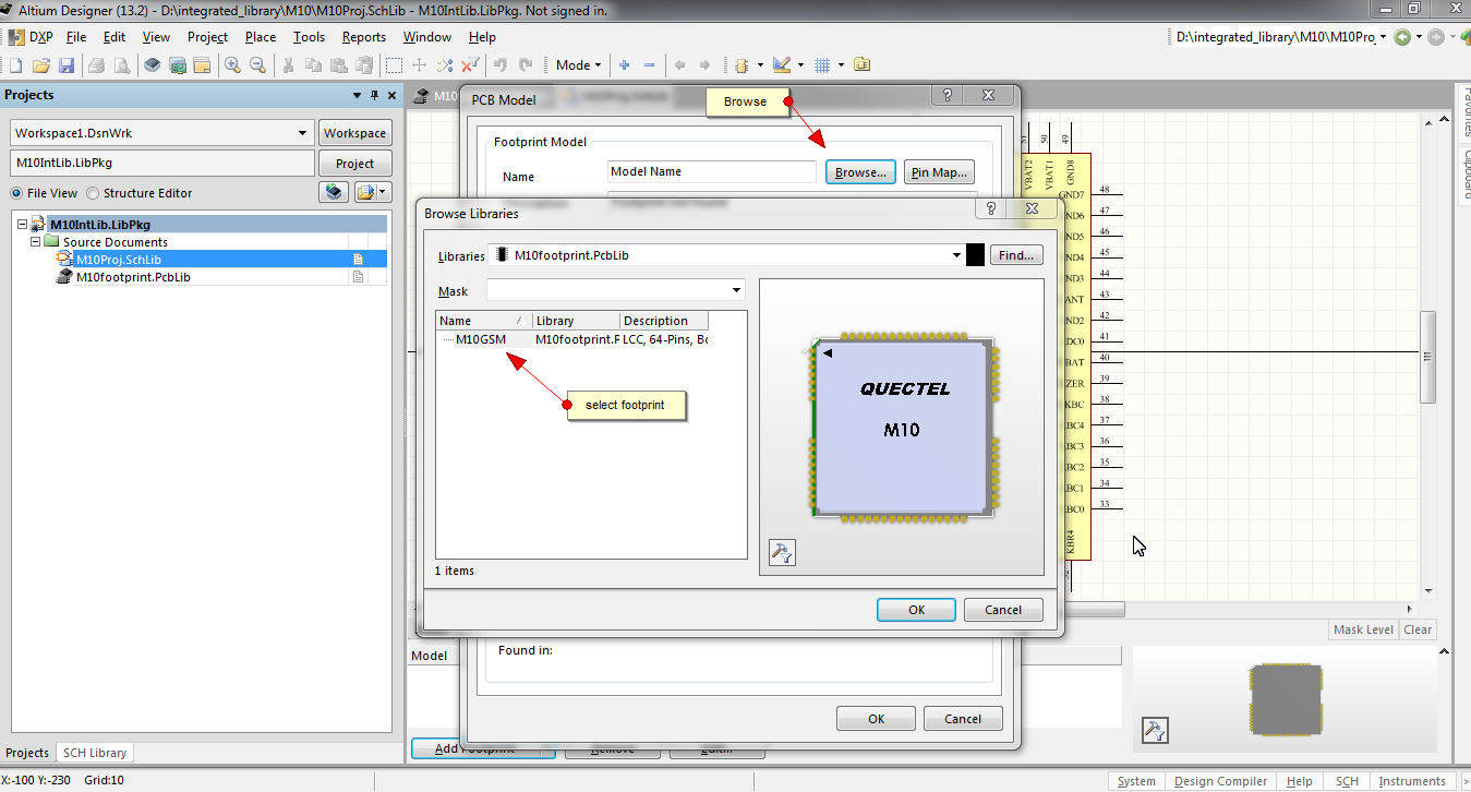 Adding footprint and 3D Model to schematic symbol