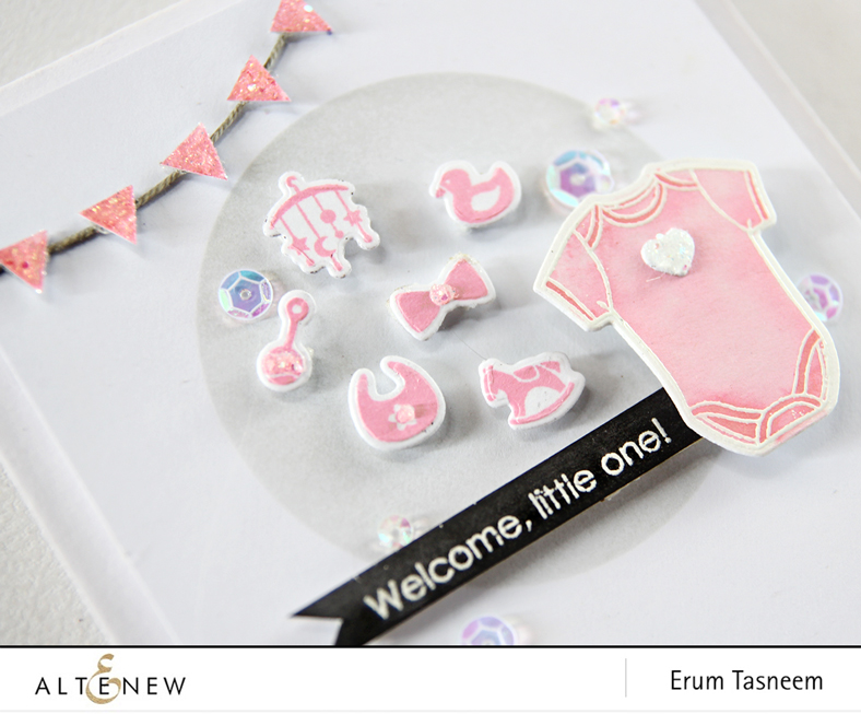 Altenew Little One Stamp Set, card by Erum Tasneem - @pr0digy0