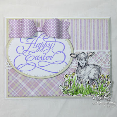Our Daily Bread Designs Stamp Sets: The Shepherd, Flourished Happy Easter, Our Daily Bread Designs Custom Dies: Little Lamb, Beautiful Borders, Medium Bow, Stitched Ovals, Ovals, Our Daily Bread Designs Paper Collection: Pastel Paper Pack 2016, Easter Card 2016