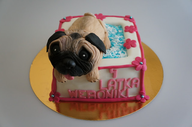 Pug Dog Birthday Cake, London