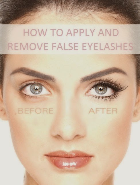 How to Apply And Remove False Eyelashes - My Favorite Things