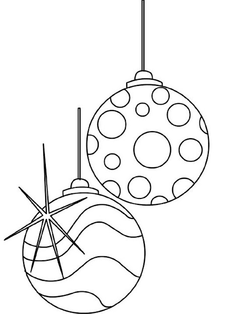 Balls Ornaments Christmas Printable Coloring Pages