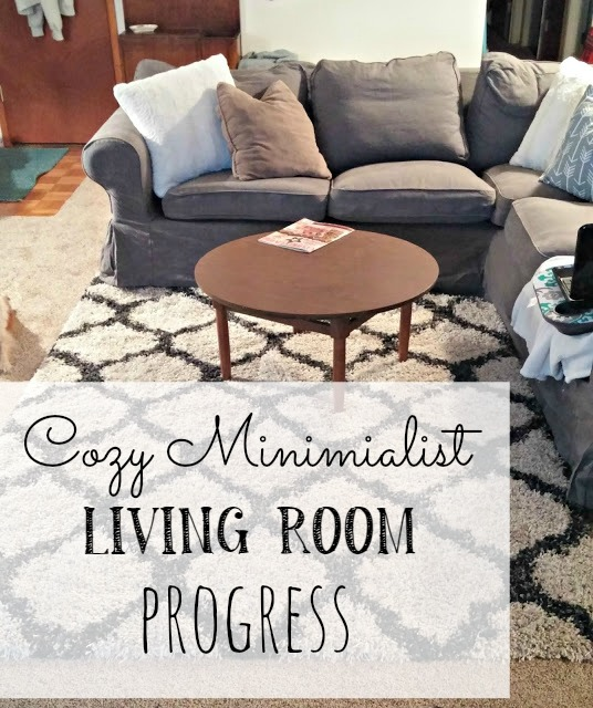 Cozy Minimalist Living Room Progress
