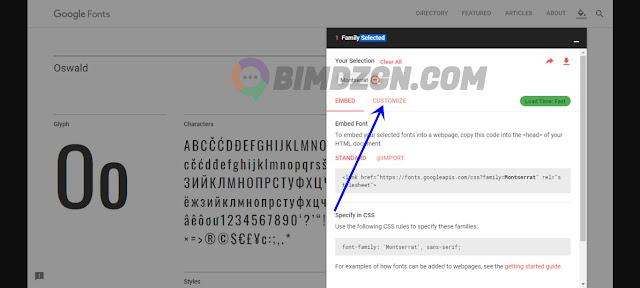 Cara Memasang Google Font Di Blogger