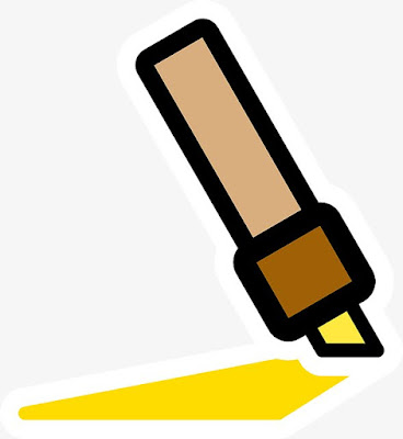 Yellow highlighter pen for web