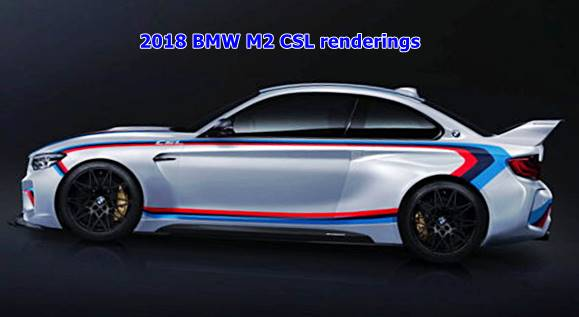 2018 BMW M2 CSL renderings
