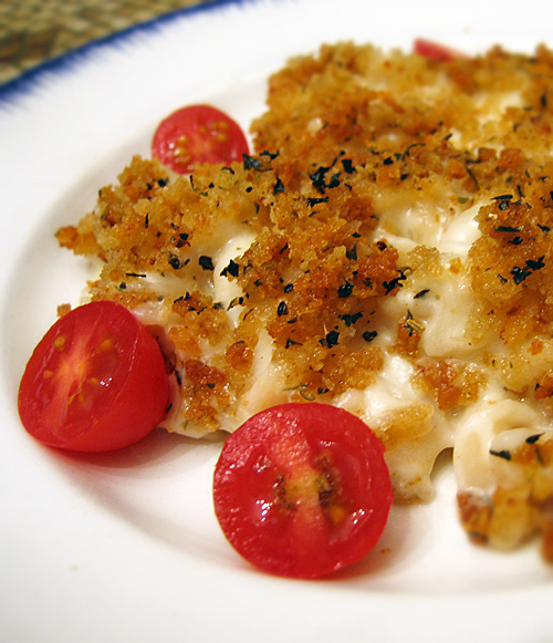 Best vegan (dairy-free) gluten-free mac and cheese with #GF crumb topping