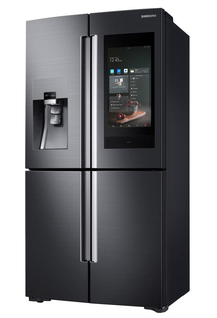 Samsung Family Hub IoT refrigerator with 21-inch display ...