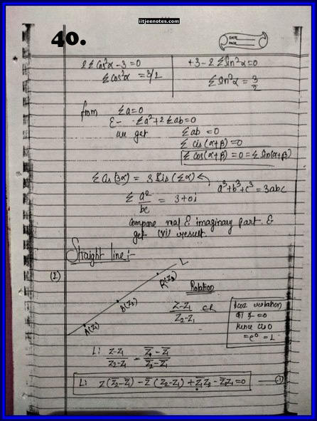 IITJEE Competition Notes On Complex Number 40