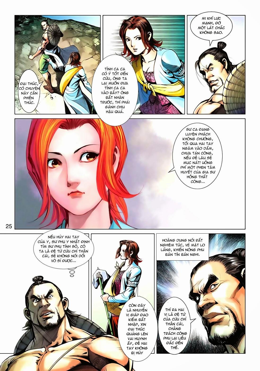 Anh Hùng Xạ Điêu anh hùng xạ đêu chap 72: ngư tiều canh độc trang 25