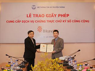 Lễ trao giấy phép BKAVCA