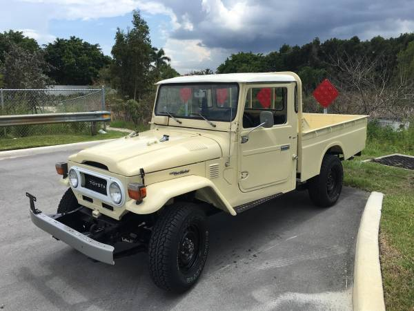 toyota fj45 pickup truck land cruiser for sale. Black Bedroom Furniture Sets. Home Design Ideas
